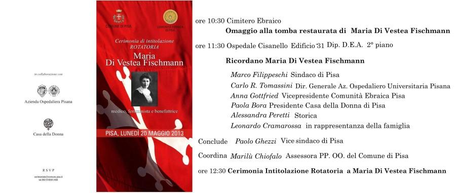 intitolazione rotatoria Maria di Vestea