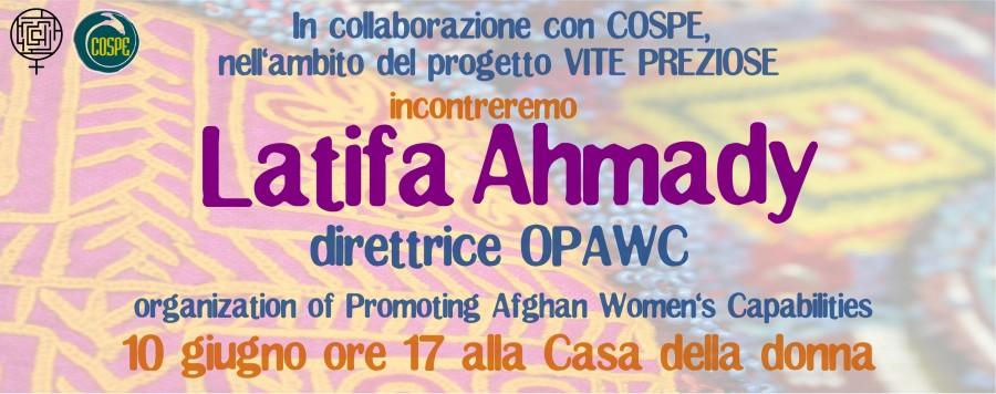 Incontro con Latifa Ahmady