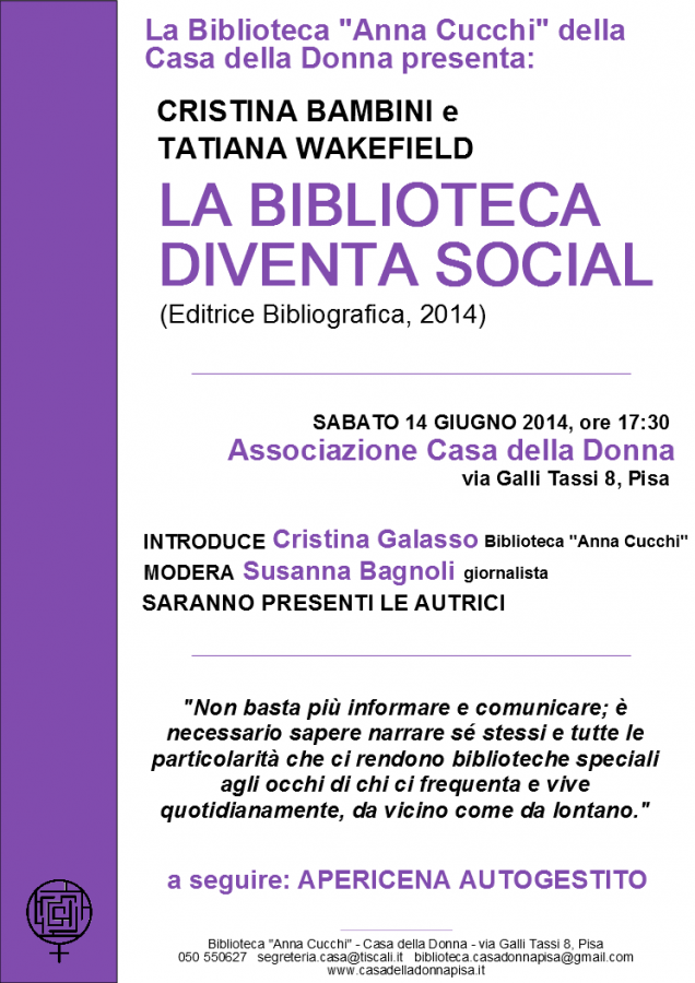 Biblioteca social 14 giugno 14
