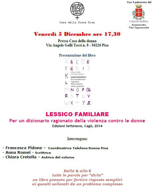 Presentazione Lessico familiare PISA