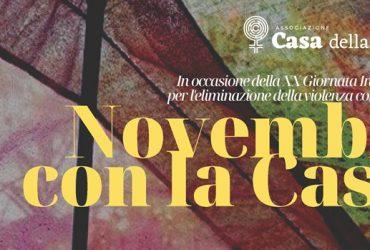 Novembre con la Casa! Le iniziative in occasione del 25 novembre