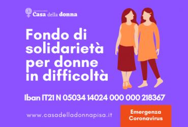 Emergenza coronavirus, un Fondo di solidarietà per donne in difficoltà