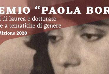 """Premio """"Paola Bora"""" per tesi di laurea e dottorato, al via la prima edizione"""