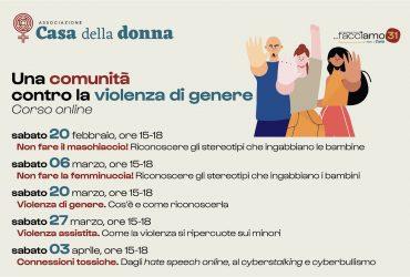 Una comunità contro la violenza di genere, corso gratuito online