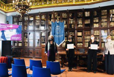 "Tre le vincitrici del Premio ""Paola Bora"": Gaia Pasini, Teresa Bernardi e Virginia Niri"