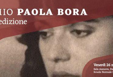 """Premio """"Paola Bora"""", venerdì 26 marzo la proclamazione delle vincitrici"""